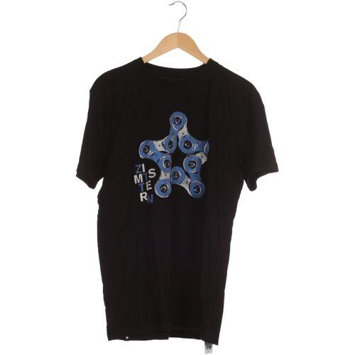 Zimtstern Herren T-Shirt schwarz Baumwolle INT L