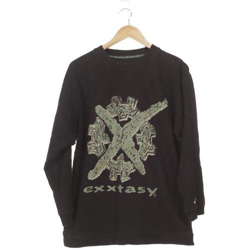 exxtasy Herren Sweatshirt schwarz Baumwolle INT S