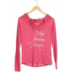 Adenauer & Co Damen Kapuzenpullover pink Baumwolle Synthetik Viskose INT XS