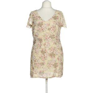 Marks & Spencer Damen Kleid beige Synthetik Viskose UK 20