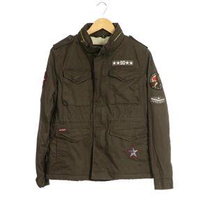 Superdry Damen Jacke grün Baumwolle Synthetik INT XL