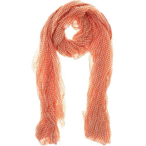 ALLUDE Damen Schal orange Baumwolle Seide