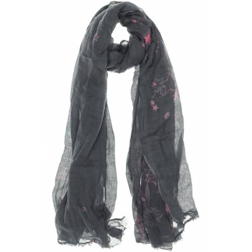AMORPH Damen Schal grau Viskose