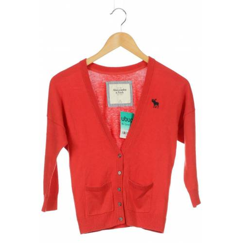Abercrombie & Fitch Damen Strickjacke rot kein Etikett INT XS
