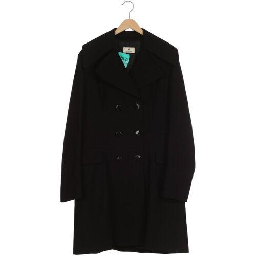 Aigner Damen Mantel schwarz Schurwolle Seide F 46