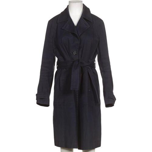 Aigner Damen Mantel blau Baumwolle DE 38