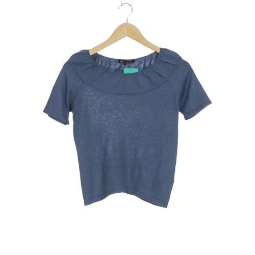 Aquascutum Damen Bluse blau Seide Wolle INT S