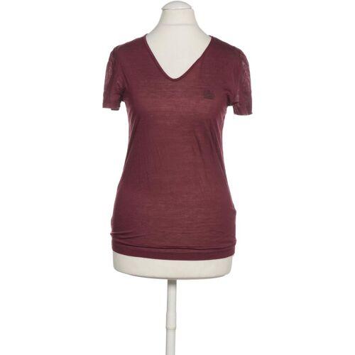 Aquascutum Damen T-Shirt lila kein Etikett INT S