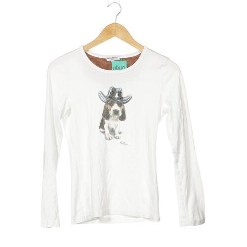 BALBINA Damen Langarmshirt weiß Baumwolle INT M