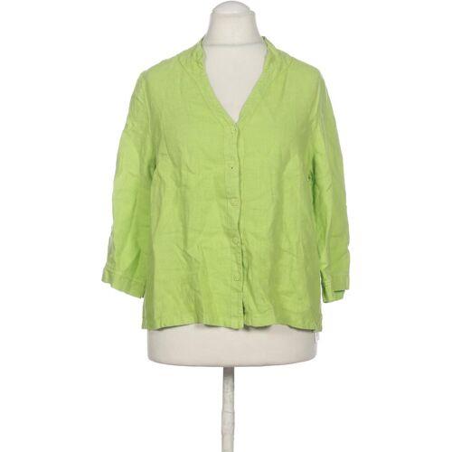 Backstage Damen Bluse grün Leinen INT M