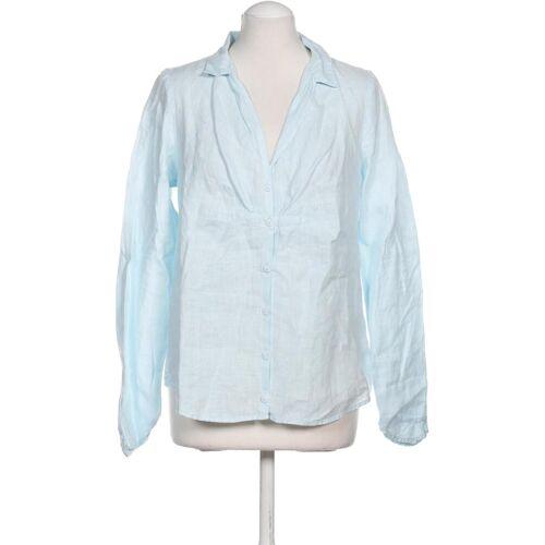 Backstage Damen Bluse blau Leinen INT M