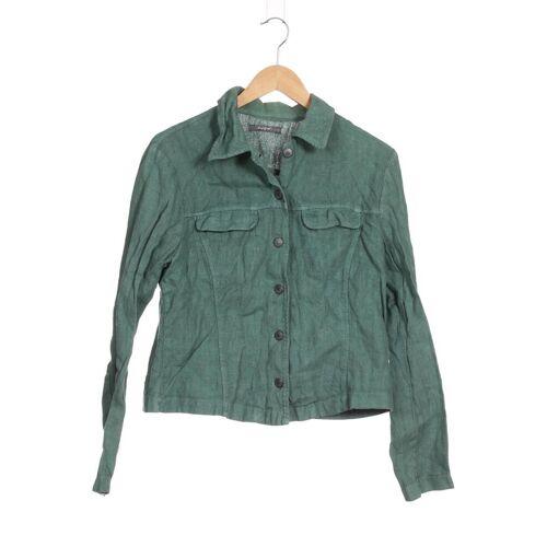 Backstage Damen Jacke grün Leinen INT L