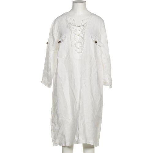 CONLEYS Damen Kleid weiß Leinen DE 36
