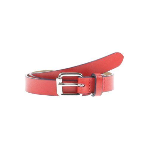Comma Damen Gürtel rot Leder 75
