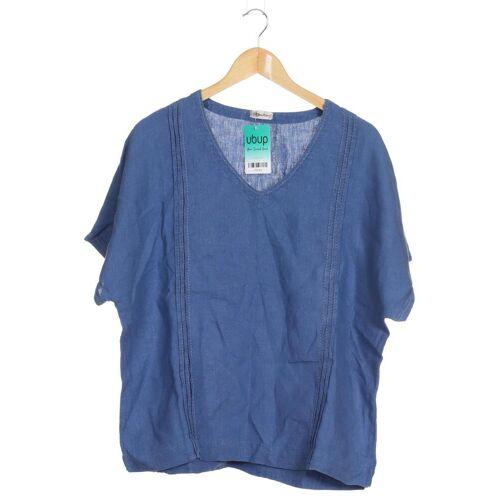Deerberg Damen T-Shirt blau Leinen INT L