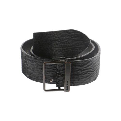 Diesel Damen Gürtel schwarz Leder 80