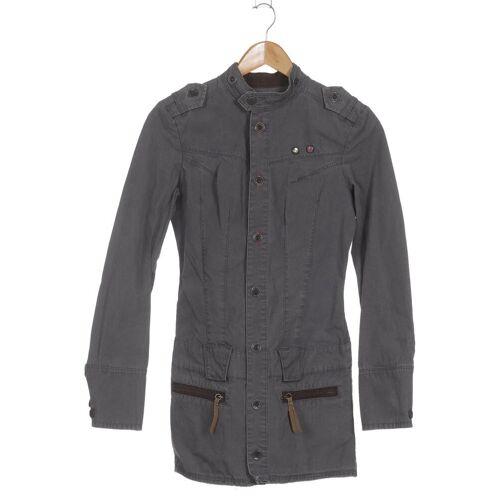 Diesel Damen Mantel grau Baumwolle INT S
