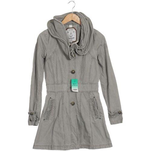 DreiMaster Damen Mantel grau Baumwolle INT XS