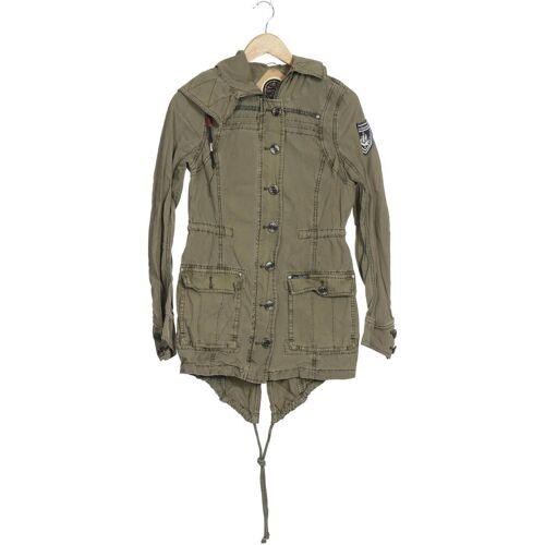 DreiMaster Damen Mantel grün Baumwolle INT M