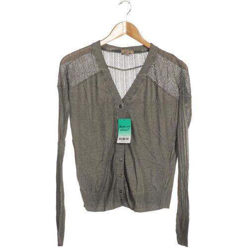 DreiMaster Damen Strickjacke grau Baumwolle INT M