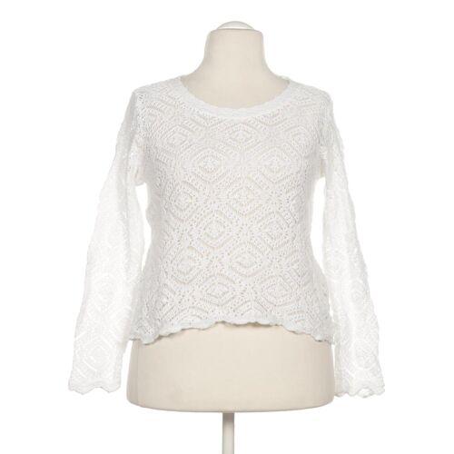 Dunque Damen Pullover weiß Baumwolle INT L