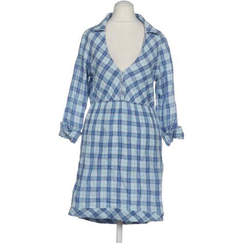 FREESOUL Damen Kleid blau Leinen INT S