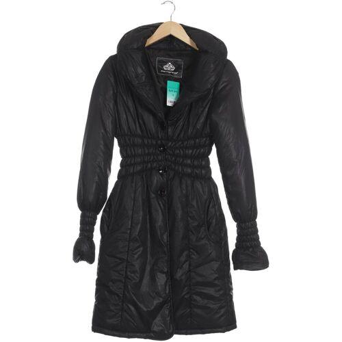 Fornarina Damen Mantel schwarz Synthetik INT M