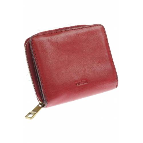 Fossil Damen Portemonnaie rot Leder