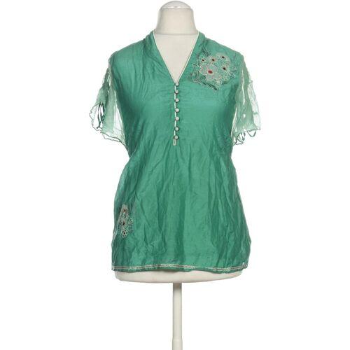 Gipsy Damen Bluse grün Baumwolle Seide INT M