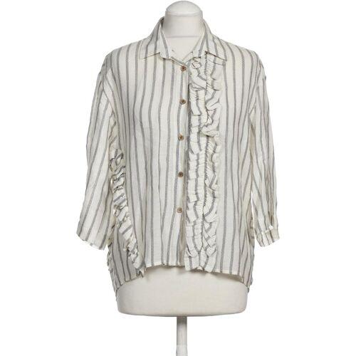 Gipsy Damen Bluse weiß Baumwolle Leinen Viskose INT S