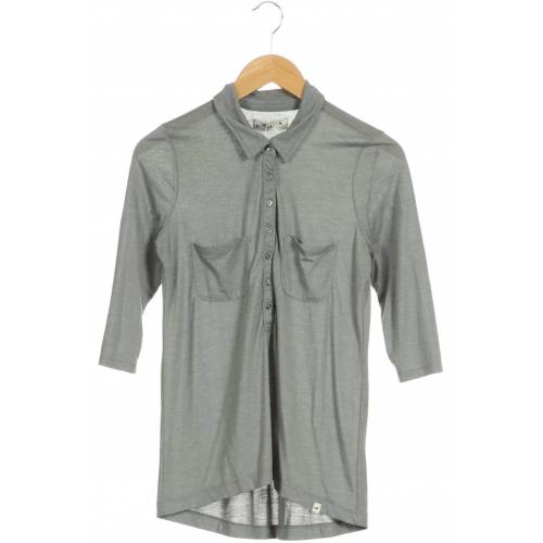 Hollister Damen Poloshirt grau kein Etikett INT M