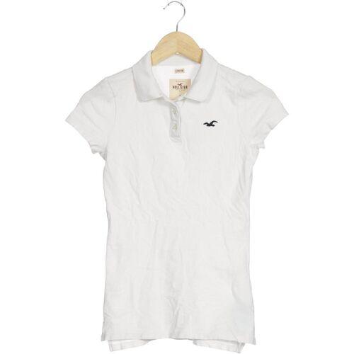 Hollister Damen Poloshirt weiß kein Etikett INT S