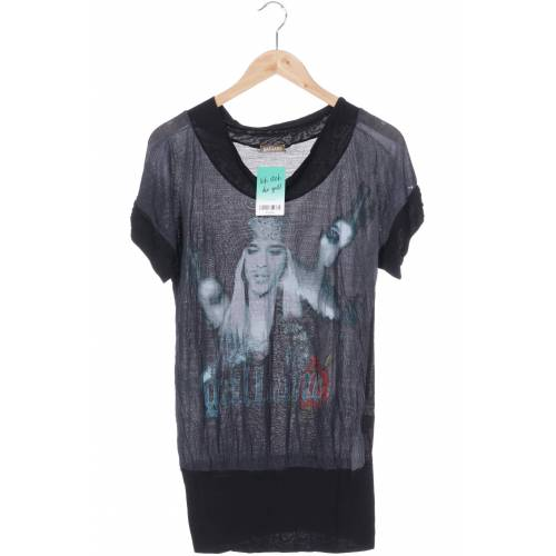 John Galliano Damen T-Shirt grau Viskose INT S