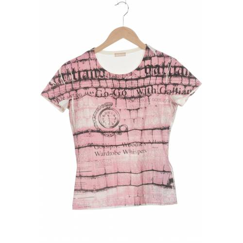 John Galliano Damen T-Shirt pink kein Etikett INT M
