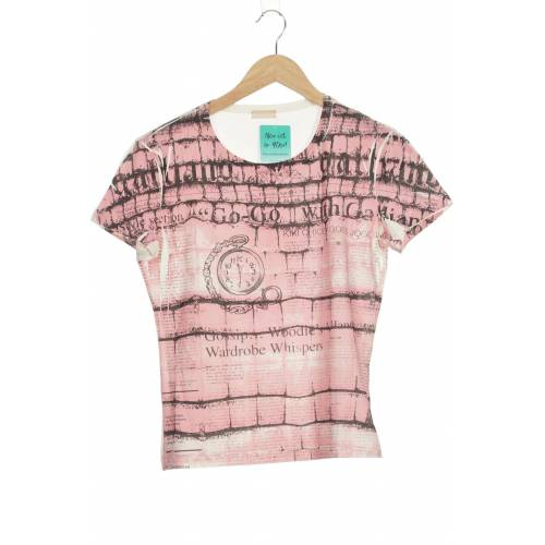 John Galliano Damen T-Shirt pink kein Etikett INT S