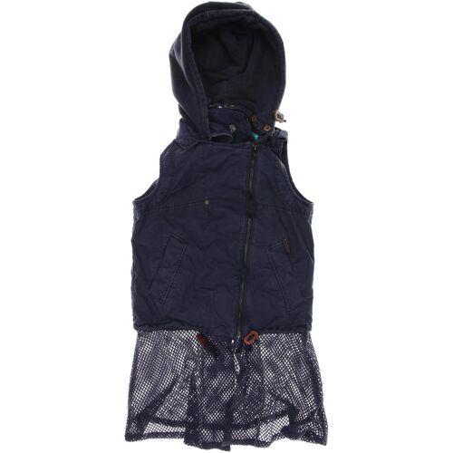 Khujo Damen Weste blau Baumwolle INT S