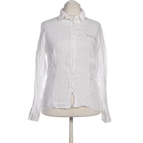 L´Argentina Damen Bluse weiß Leinen DE 44