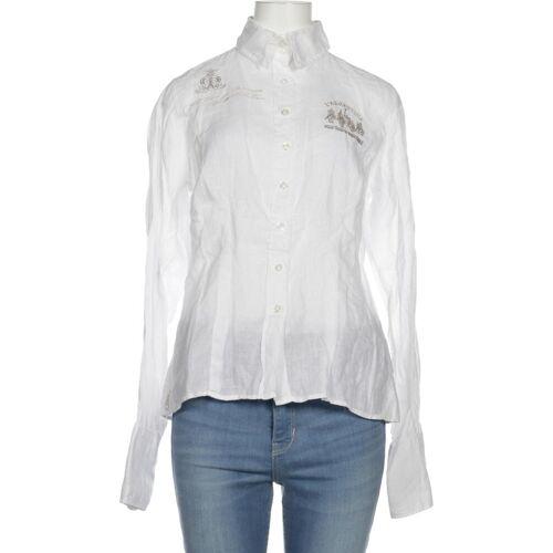 L´Argentina Damen Bluse weiß Leinen DE 34