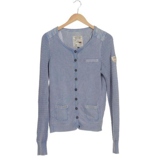 L´Argentina Damen Strickjacke blau Baumwolle INT L