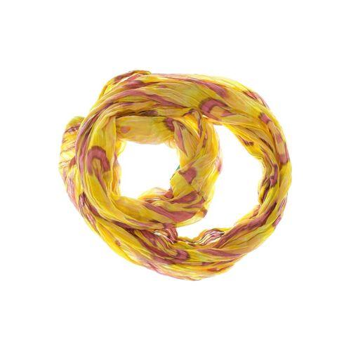 Ludwig Görtz Damen Schal gelb Baumwolle