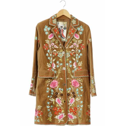 MALVIN Damen Mantel beige Baumwolle DE 38