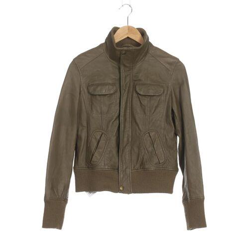 MANGO Damen Jacke grün Leder INT XL