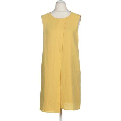 MANGO Damen Kleid INT M Maße Gesamtlänge: 87cm gelb