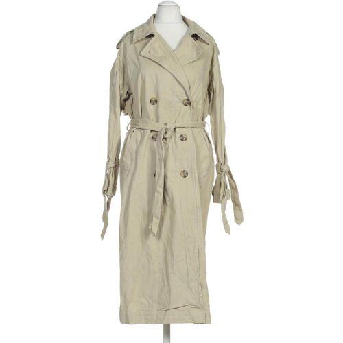 MONKI Damen Mantel beige Baumwolle INT S