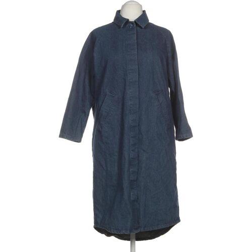 MONKI Damen Mantel blau Baumwolle INT XS