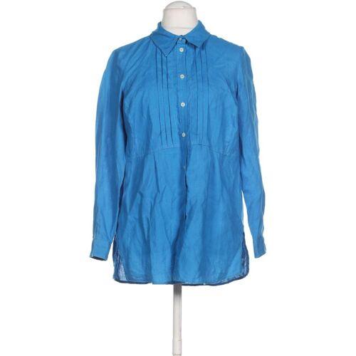 Madeleine Damen Bluse blau Leinen DE 42