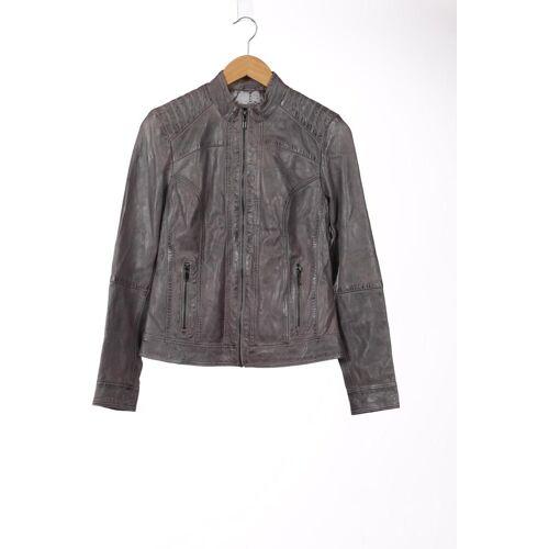 Manguun Damen Jacke grau Leder DE 36