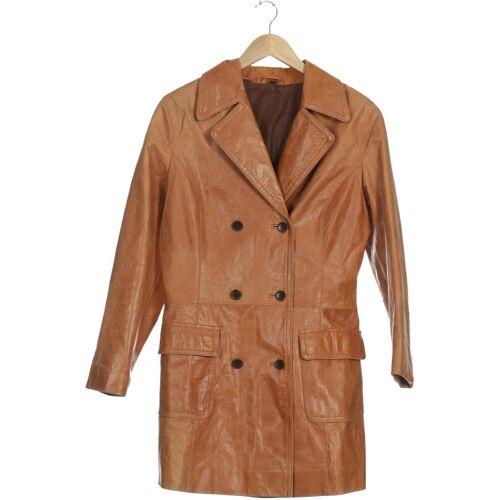 Mauritius Damen Mantel orange Leder Synthetik DE 38