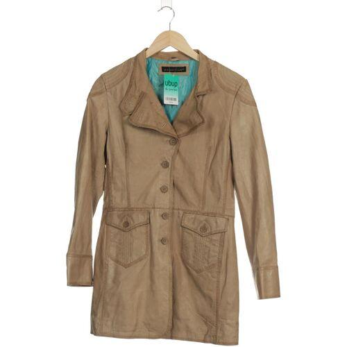 Mauritius Damen Mantel beige Leder Synthetik DE 36