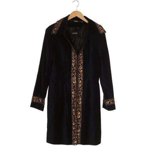 Nicowa Damen Mantel schwarz Baumwolle Viskose DE 42